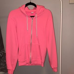 Pink American Apparel Zip Up